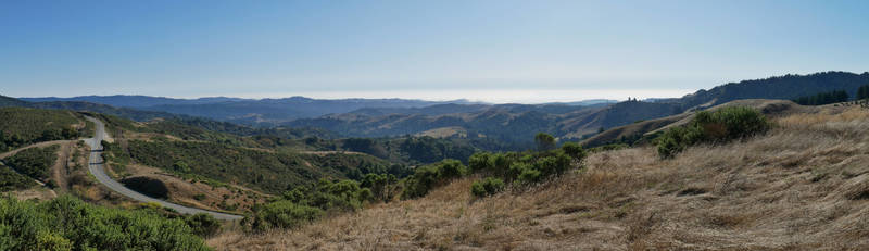 Look towards the Pacific Ocean from Windy Hill near CA 35