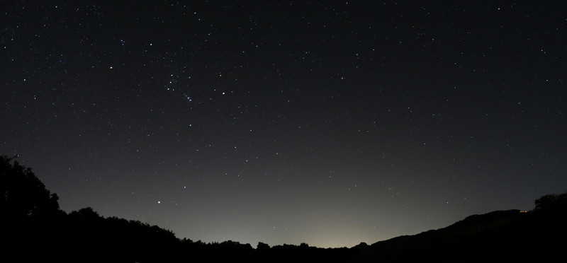 Night sky near Sonoma, CA
