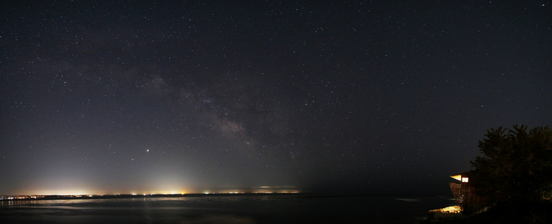 Milky Way over the Monterey Bay looking from Paradise Point in Capitola, Santa Cruz, CA