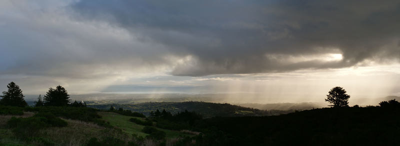 Dawn after rain from Skyline Boulevard (CA 35) next to Windy Hill looking towards Redwood City