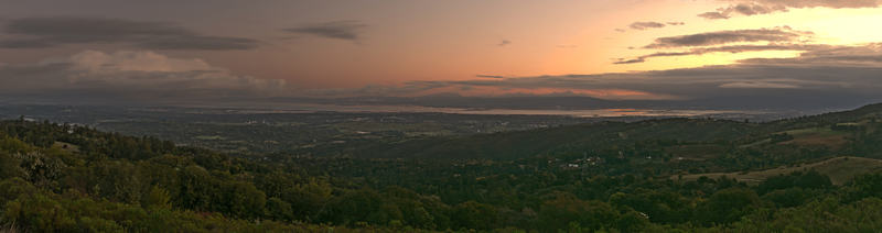 Sunrise over Silicon Valley from Silicon Valley Vista Point on CA 35