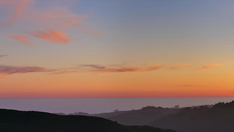 Pacific ocean during golden hour from CA 35 near CA 92